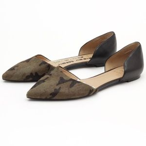 Banana Republic camo calf hair dorsay flats