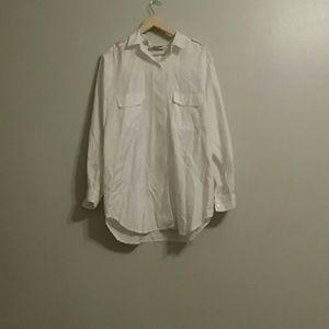 Josephine Tops - Plus size white button down shirt