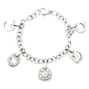 Authentic Tiffany Silver Multi Charm Bracelet