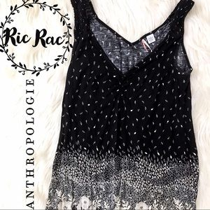 Anthropologie Tops - Anthropologie • Ric Rac Sleeveless Floral Top