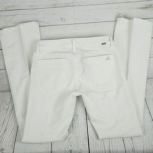 DL1961 Denim - Women's White DL1961 Jean's Straight Leg Size 27