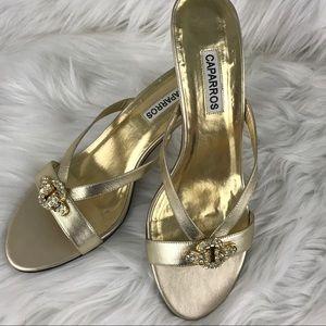 Caparros Shoes - Caparros Gold Heels