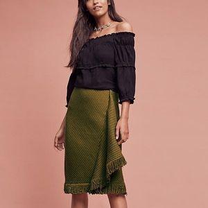 Anthropologie Dresses & Skirts - Anthropologie Rosie Neira Wrap Fringe Skirt!