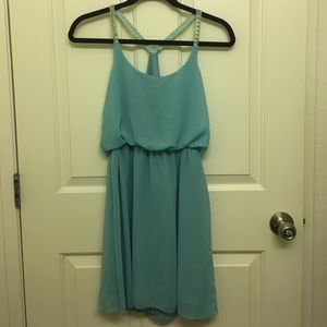 Turquoise sheer dress