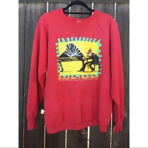 VTG 90s Southern Festival red sweatshirt SZ XL