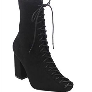 Cape Robbin Shoes - Cape Robbin Betisa Black Lace-Up Boot