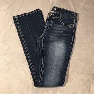 Vanity Denim - Vanity dark wash distressed jeans tall 29 slim