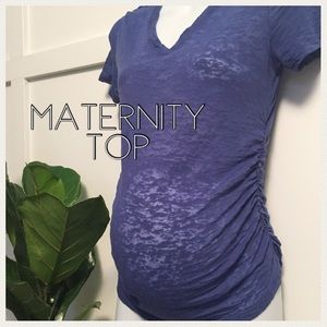 💋SALE💄Sheer Liz Lange maternity ruched top small