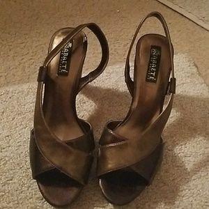 Abaete Shoes - Bronze open toe sandals