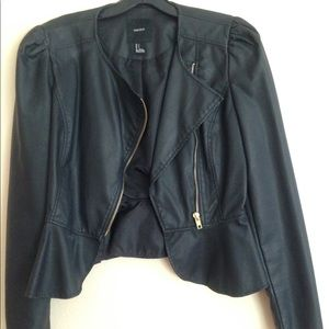 Forever 21 Faux Leather Jacket size Small