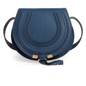 Chloe Handbags - Chloe small marcie leather blue cross body bag