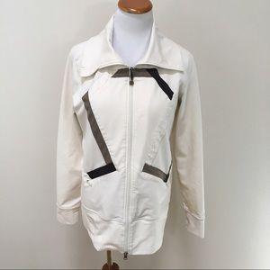 LULULEMON Origami Cream Stride Jacket Size 10