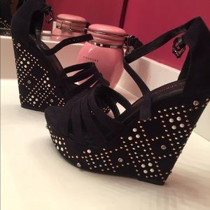 Call It Spring Shoes - Call it spring embellished wedges(make offers!)