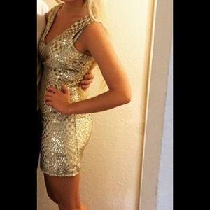 Chelsea & Violet Dresses & Skirts - Gold sequence dress