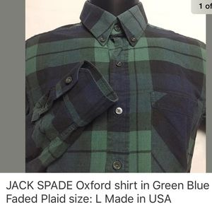 Jack Spade Other - JACK SPADE pinpoint oxford shirt in Plaid