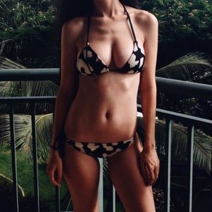 triangl swimwear Other - TRIANGL Cow Print Bikini
