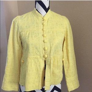 Anthropologie - Summer yellow blazer