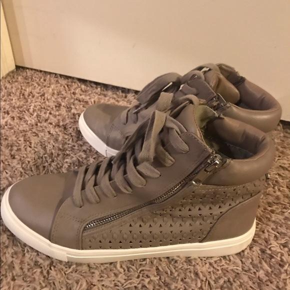 1d6aa516518 Women s Gray Eiris Grey High Top Sneaker. M 592668bb9c6fcf101701ec7d