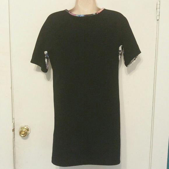55 off zara dresses skirts zara contrasting printed for Zara black t shirt dress