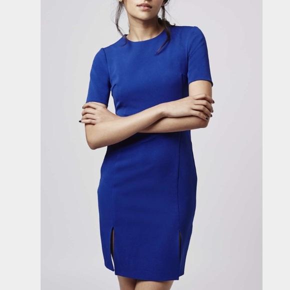 Topshop Dresses - *Brand NEW* Topshop blue split front dress