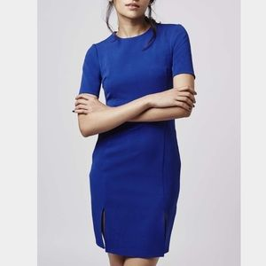 *Brand NEW* petite Topshop blue split front dress