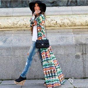 SheInside Other - SheInside Bohemian Chiffon Long Sleeve Kimono