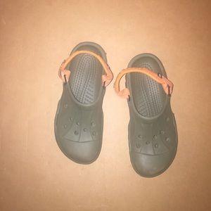 CROCS Other - Green and orange crocs