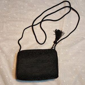 Avon Handbags - NWOT Black Avon Tassel Evening Bag