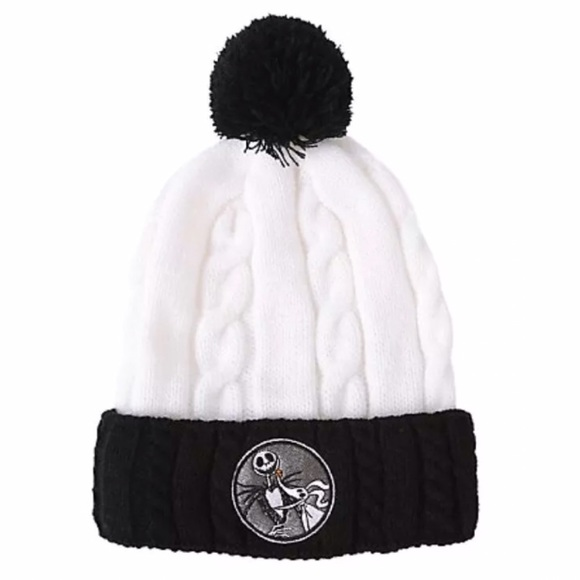 89f31650ff677 jacke skellington beanie hat knitted pom nightmare before christmas ...
