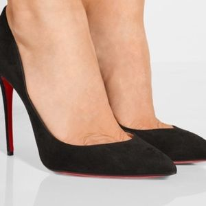 Christian Louboutin Shoes - BRAND NEW SZ 39.5 BLK LOUBOUTIN SUEDE PUMPS