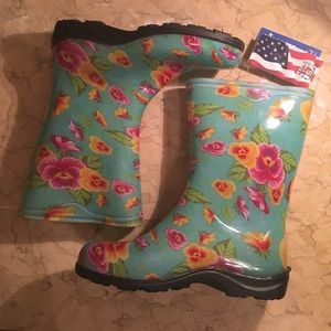 sloggers Shoes - Floral rain boots! Never been worn with tags!!!