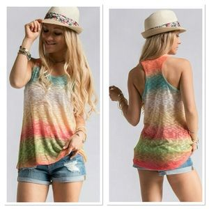 🎈. 🎉HP 🎉.   Rainbow Sublimated Knit Tank