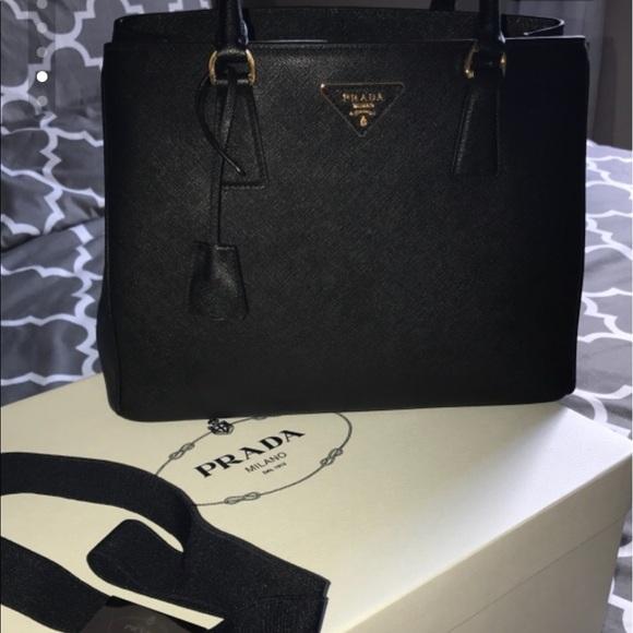 5f4ea9134da7 Prada Bags | 100authentic Saffiano Lux Nero Purse 1ba874 | Poshmark