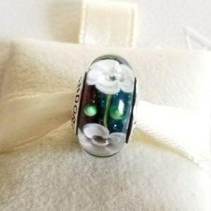 Pandora Jewelry - Pandora Flower Murano Charm