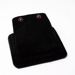 Jewelry - Navajo Garnet Sterling Studs SP0018