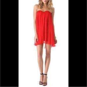 Blaque Label Dresses & Skirts - Blaque Label Red Chiffon Sweetheart Mini Dress XS
