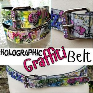Hot Topic Accessories - Punk Artsy Graffiti Belt
