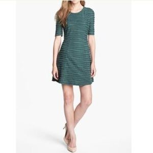 Collective Concepts Green Stripe Skater Dress