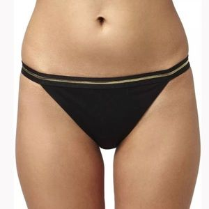Topshop Other - TOPSHOP black and gold bikini bottoms
