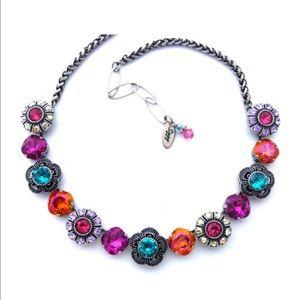 Dazzling Blooms Swarovski Crystal Necklace
