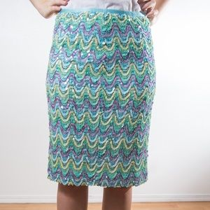 Cynthia Steffe Dresses & Skirts - Cynthia Steffe Beaded Skirt in Blue (Size 6/ M)