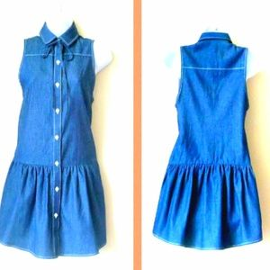 Loup Dresses & Skirts - LOUP Sleeveless Designer Blue Denim Dress