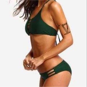 6fe51ee5d35f14 Fashion Nova Swim | Two Piece Dark Green Bikini | Poshmark