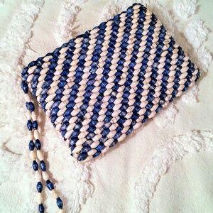 Handbags - Blue Beaded Nautical Wristlet