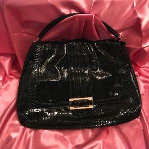 Anya Hindmarch Handbags - Anya Hindmarch Black Patent Leather hobo purse