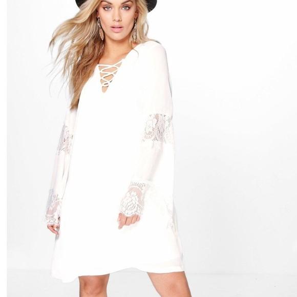 White shift dress plus size 18 $$$