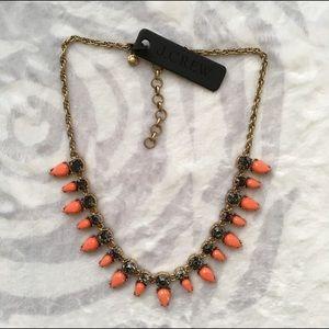 J. Crew Jewelry - Jcrew orange triangle statement necklace