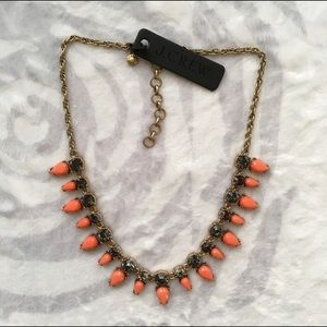 Jcrew orange triangle statement necklace