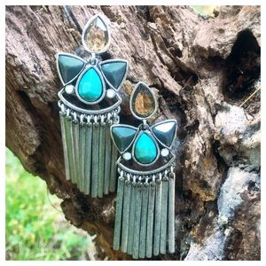 Silver Dangle Post Earrings