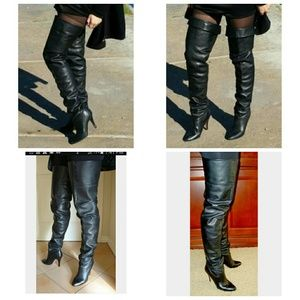 Wild Pair Shoes - Vintage Black Wild Pair Crotch Thigh High Boots